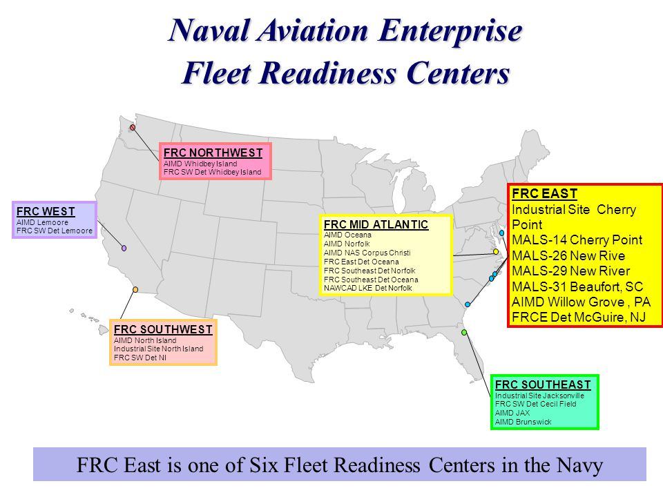 Naval Aviation Enterprise Fleet Readiness Centers FRC EAST Industrial Site Cherry Point MALS-14 Cherry Point MALS-26 New Rive MALS-29 New River MALS-3