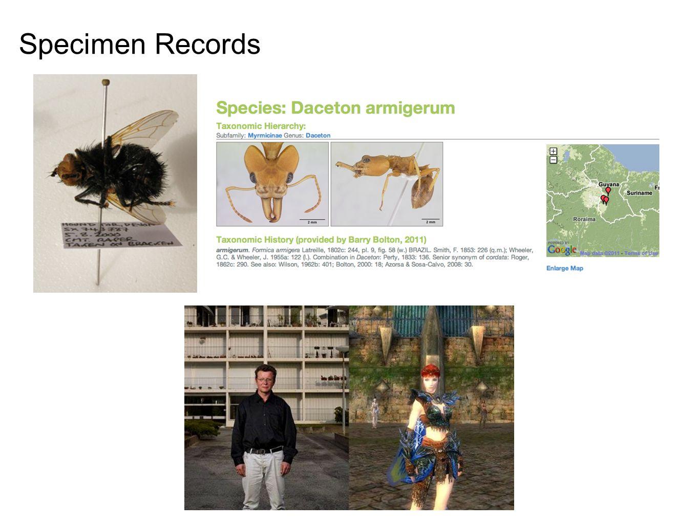 Specimen Records