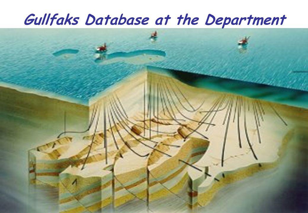 NTNU 22 Gullfaks Database at the Department