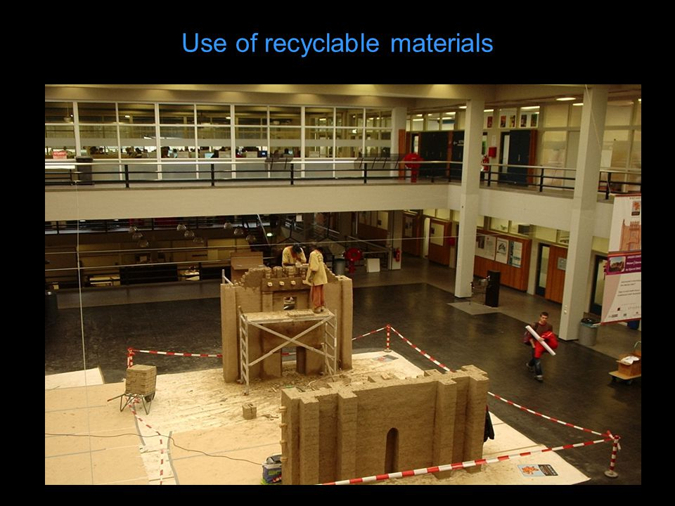 Use of recyclable materials
