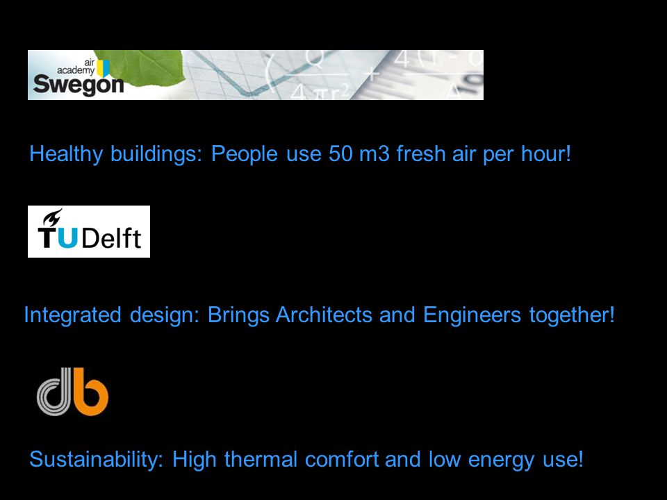 Integrated design: Brings Architects and Engineers together.