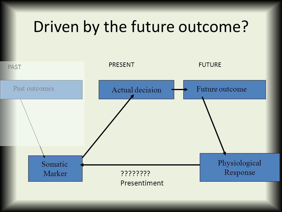 Driven by the future outcome.