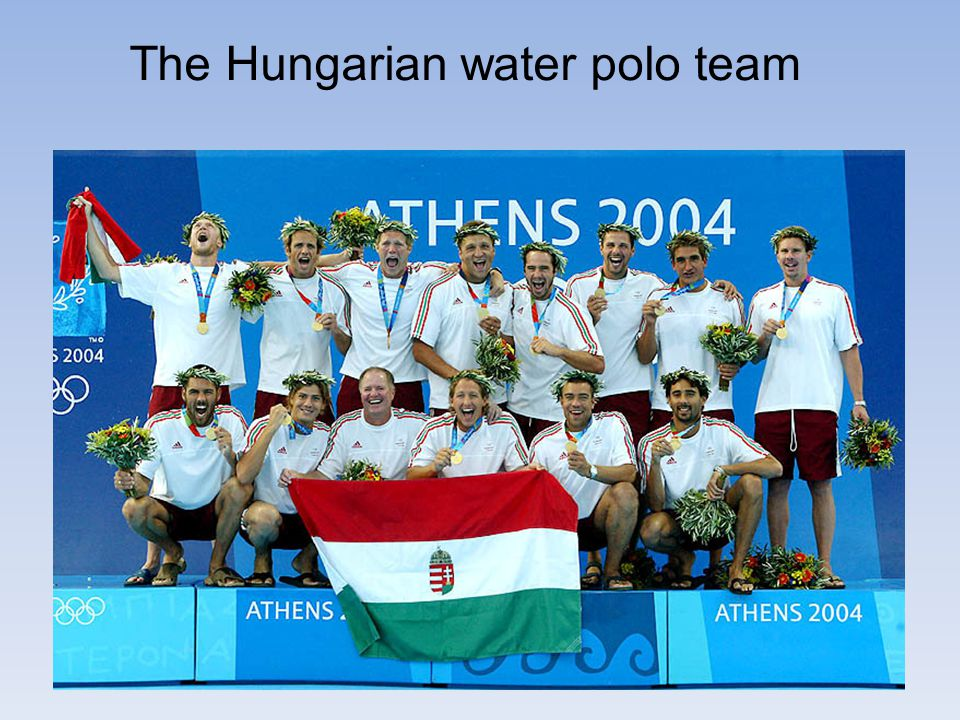The Hungarian water polo team