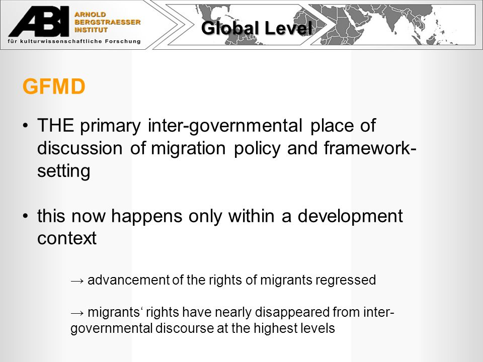 …….for advancing the rights of migrants regional human rights bodies/commissions e.g.