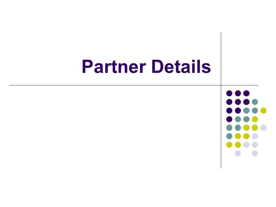 Partner Details