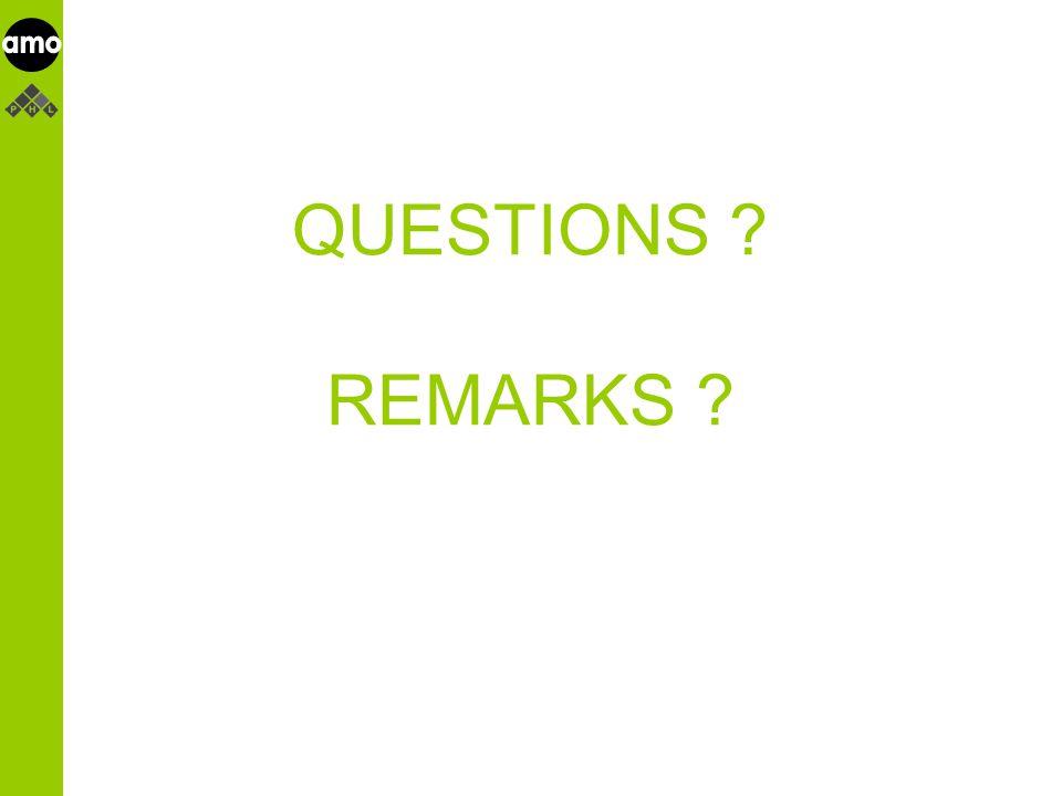 onderzoeksinstituut QUESTIONS REMARKS