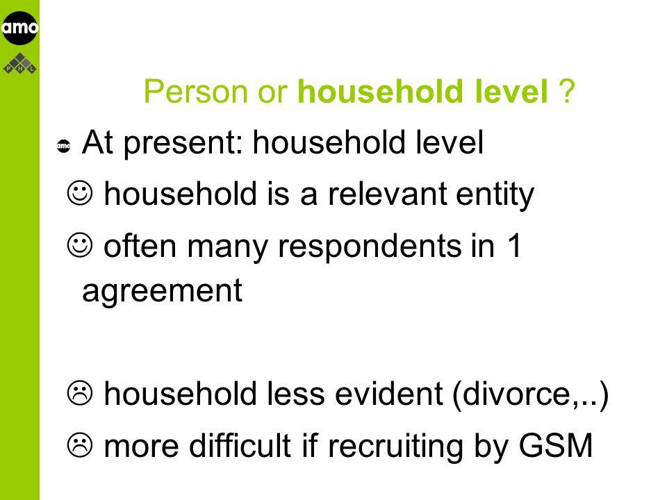 onderzoeksinstituut 1 household or group with 4 back-up households .