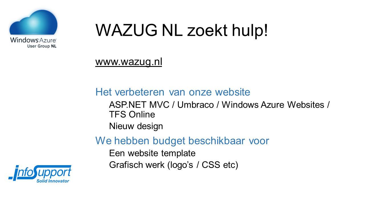 WAZUG NL zoekt hulp.