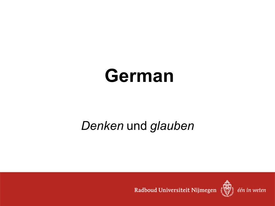 German Denken und glauben