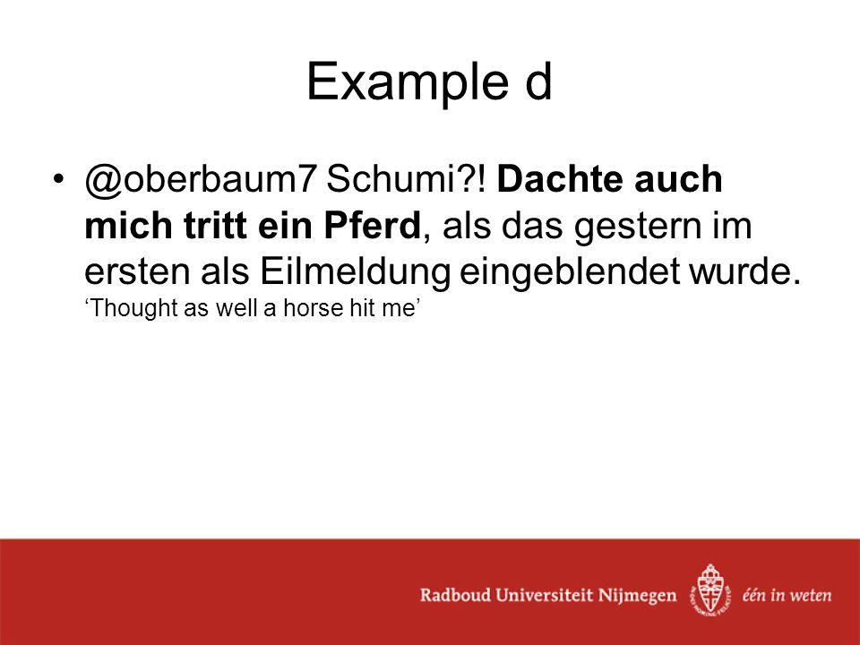 Example d @oberbaum7 Schumi .