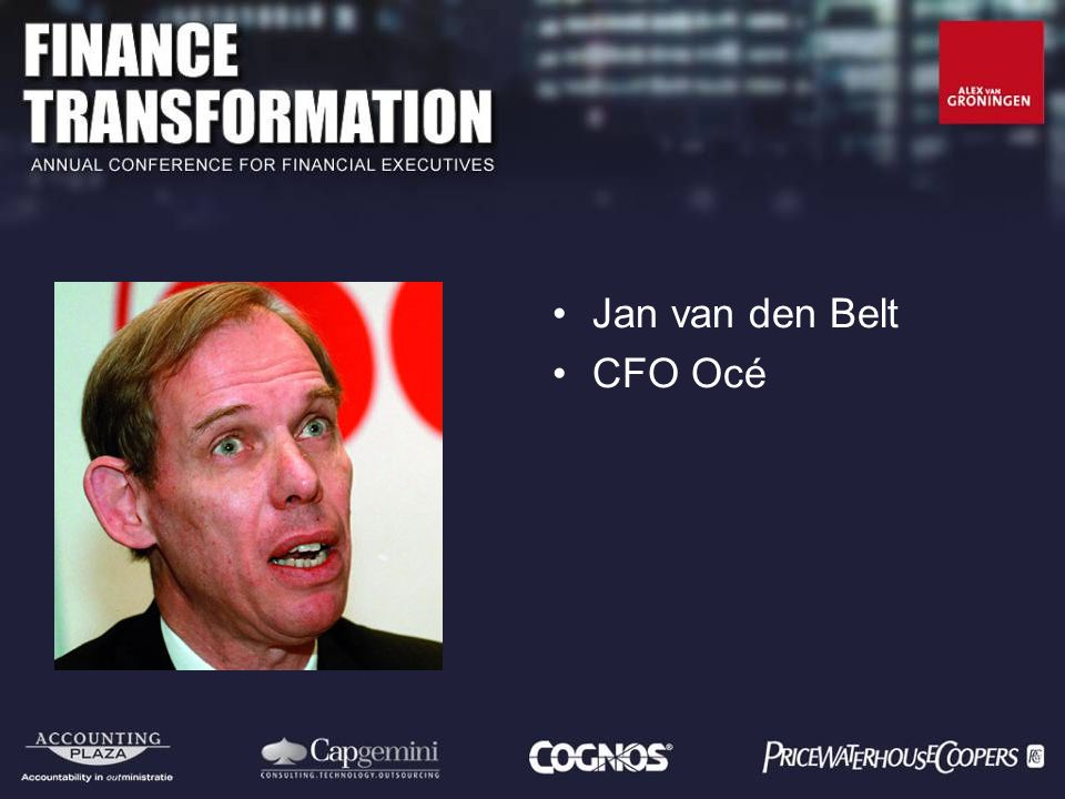 Jan van den Belt CFO Océ