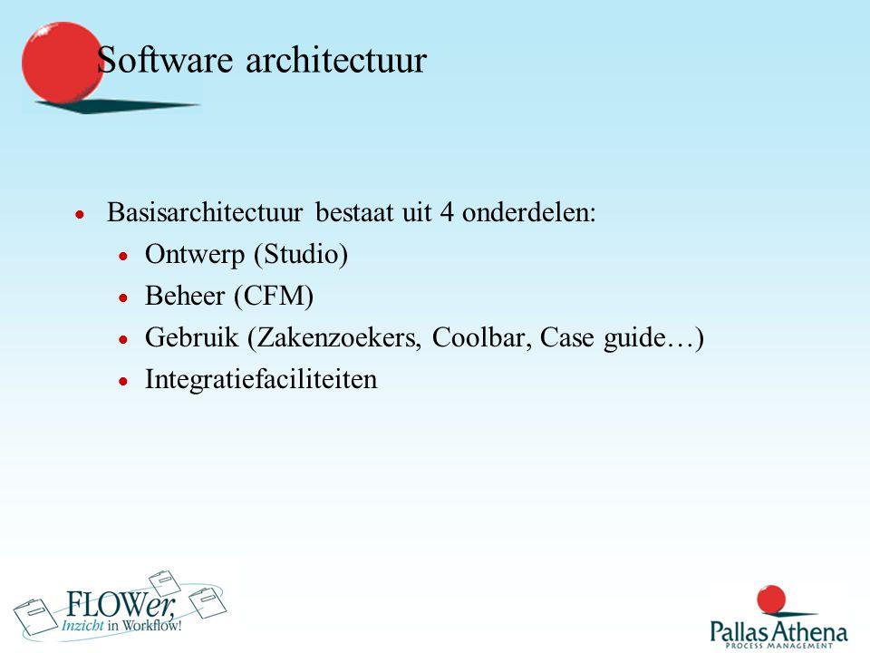 Platformen  Clients  Eindgebruikers  JAVA  Beheerders  JAVA  commando-regel (Windows NT/2000/XP + UNIX)  Ontwerpers  Windows NT/2000/XP  X (Unix)