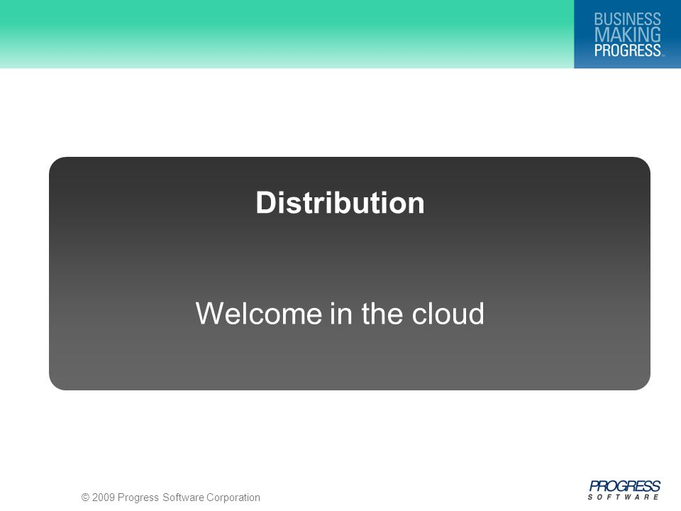 Welcome in the cloud Distribution