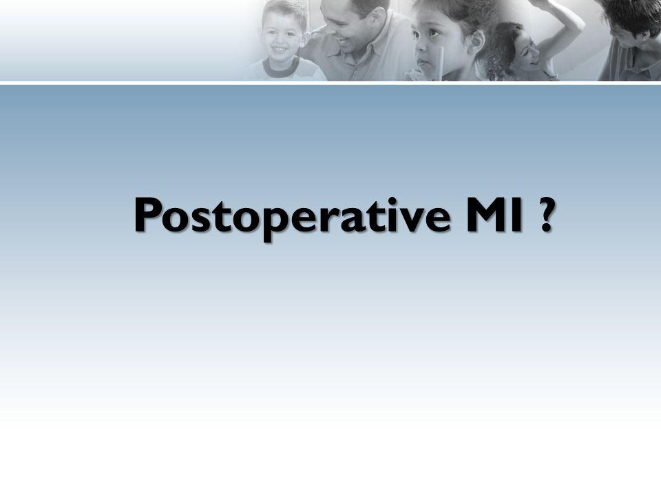 Postoperative MI