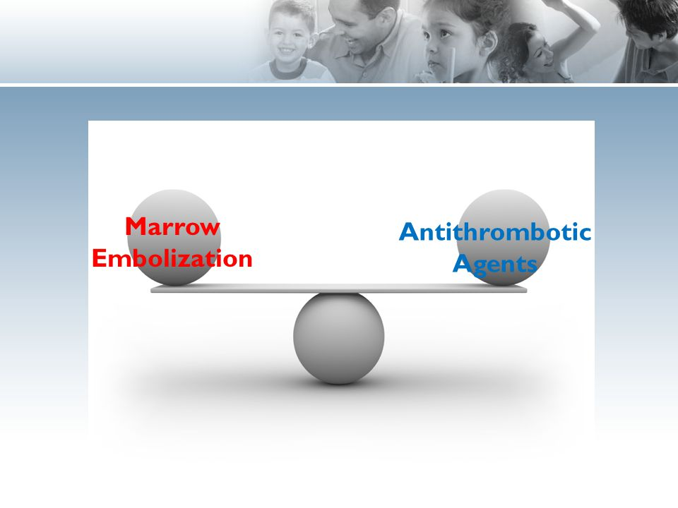 Marrow Embolization Antithrombotic Agents