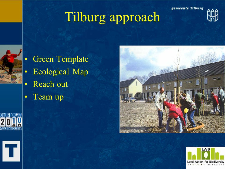 Tilburg approach Green Template Ecological Map Reach out Team up