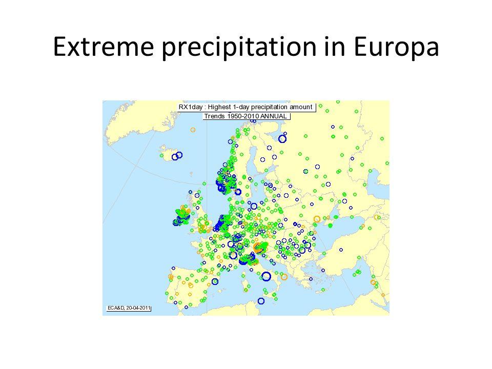 Extreme precipitation in Europa