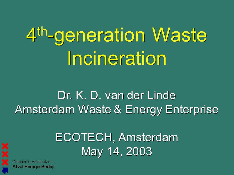 Gemeente Amsterdam Afval Energie Bedrijf 4 th -generation Waste Incineration Dr.