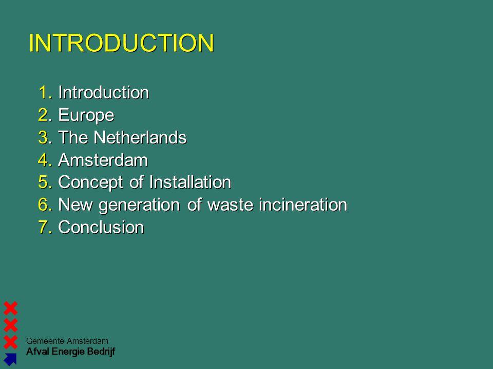 Gemeente Amsterdam Afval Energie Bedrijf INTRODUCTION 1.