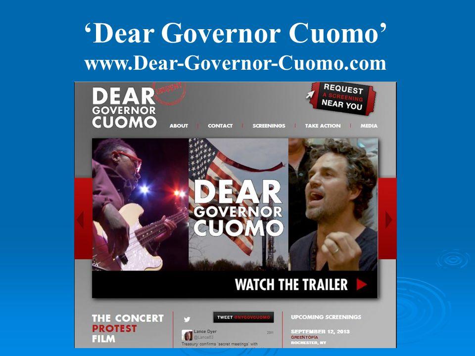 'Dear Governor Cuomo' www.Dear-Governor-Cuomo.com