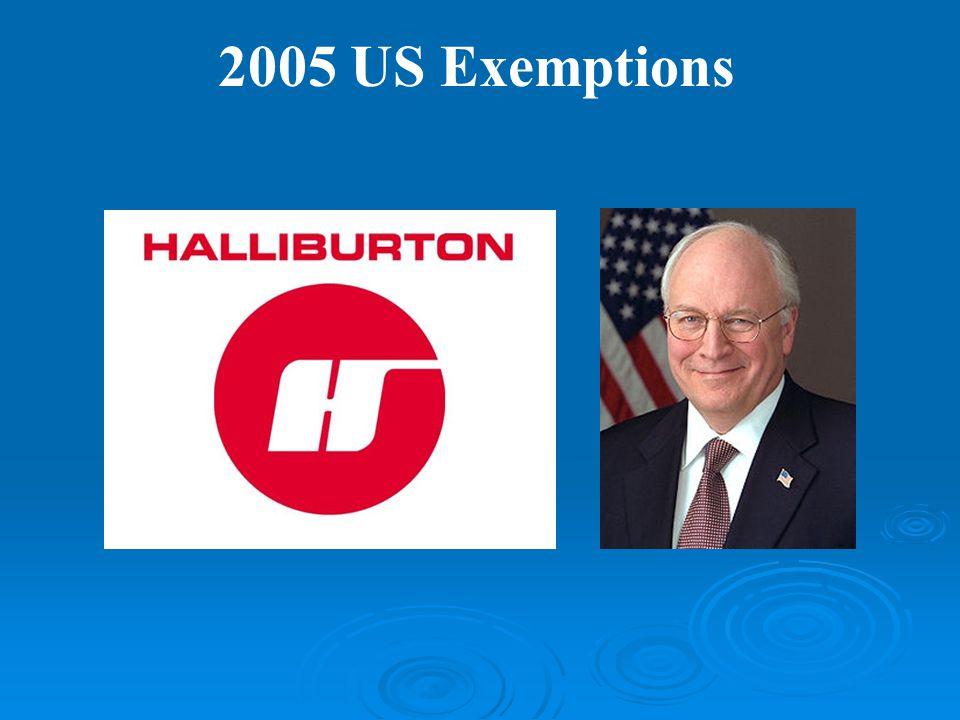 2005 US Exemptions