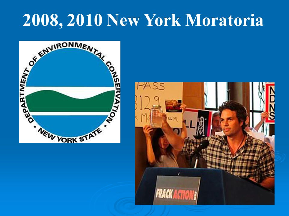 2008, 2010 New York Moratoria