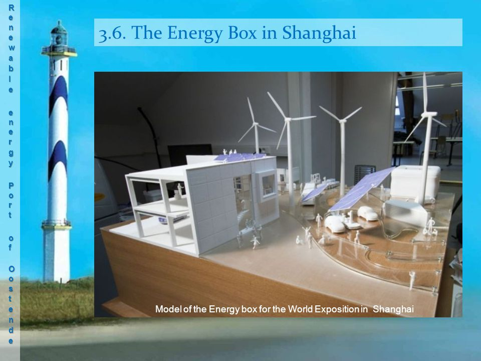 3.6. The Energy Box in Shanghai Model of the Energy box for the World Exposition in Shanghai