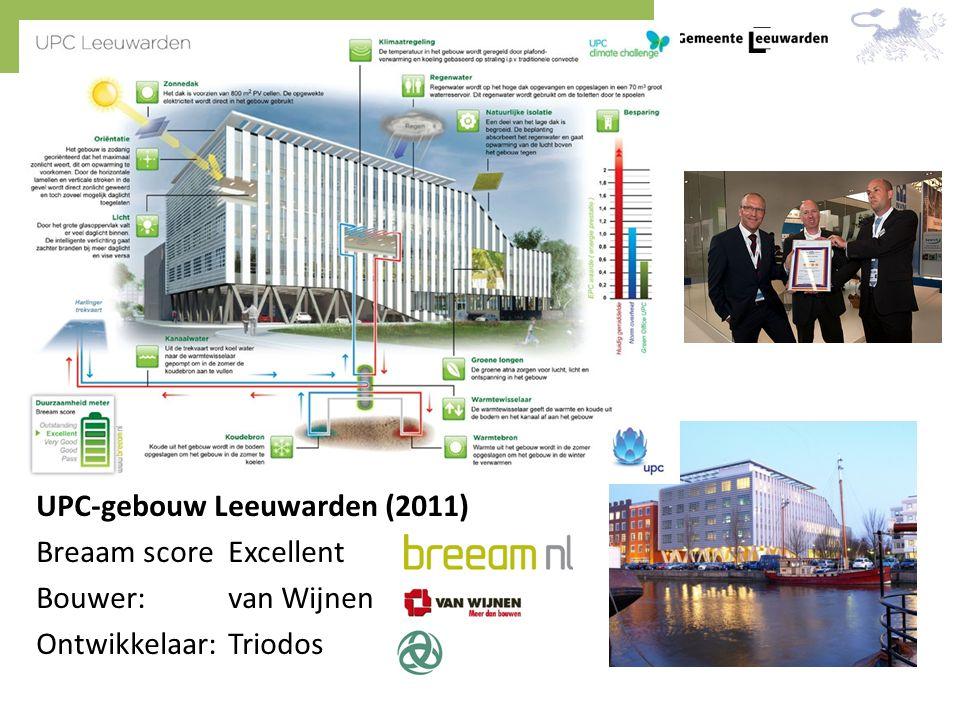 UPC-gebouw Leeuwarden (2011) Breaam score Excellent Bouwer: van Wijnen Ontwikkelaar: Triodos