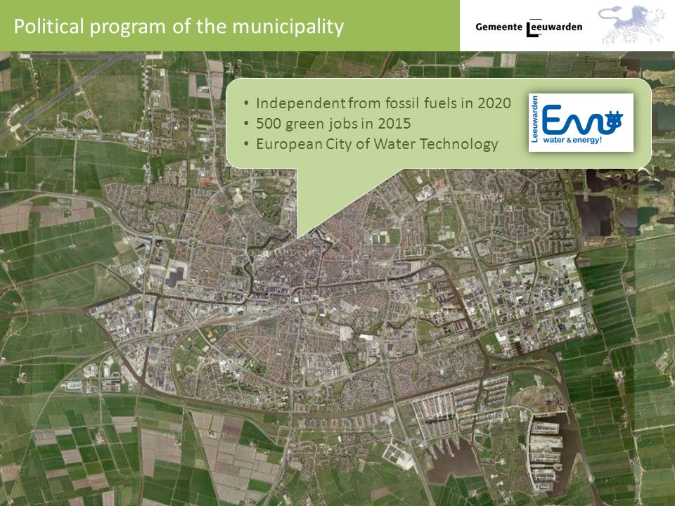 Political program of the municipality Independent from fossil fuels in green jobs in 2015 European City of Water Technology
