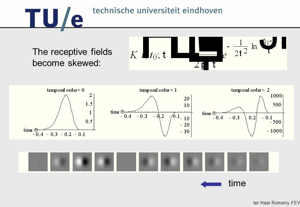 ter Haar Romeny, FEV The receptive fields become skewed: time