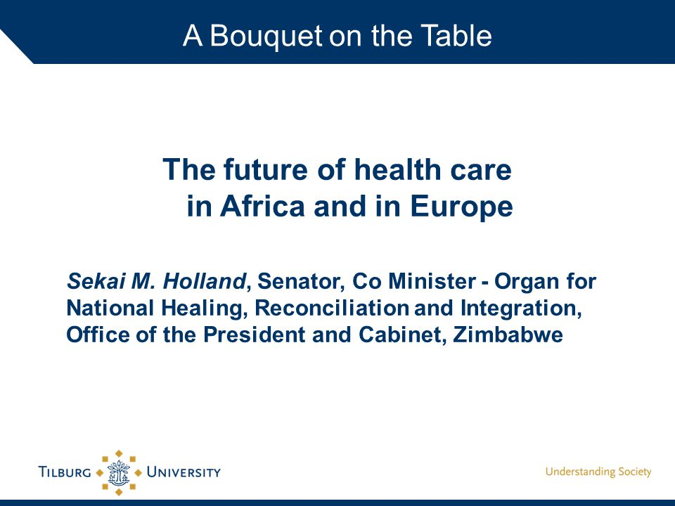 The future of health care in Africa and in Europe Sekai M.