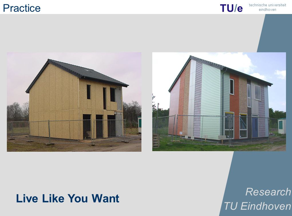 21 TU/e technische universiteit eindhoven Live Like You Want Research TU Eindhoven Practice