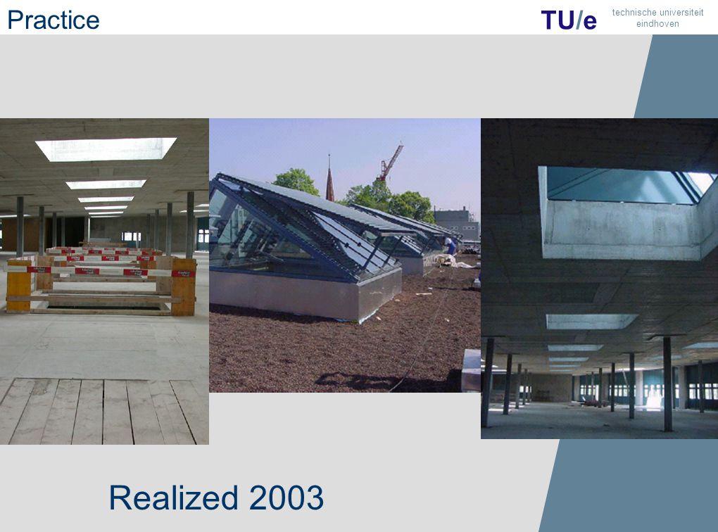 27 TU/e technische universiteit eindhoven Realized 2003 Practice