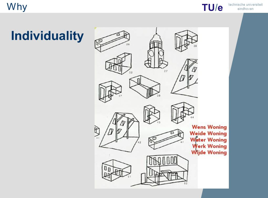 6 TU/e technische universiteit eindhoven Individuality Why