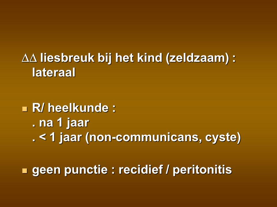 TUMOR soms acute zwelling na mineur trauma (slechte angiogenesis) soms acute zwelling na mineur trauma (slechte angiogenesis) R/ heelkunde +/- chemo R/ heelkunde +/- chemo overleving YolkSac : > 90 % overleving YolkSac : > 90 %