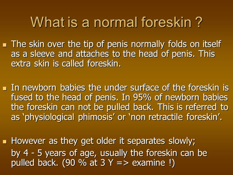 Problems of the persisting non-retractile foreskin.