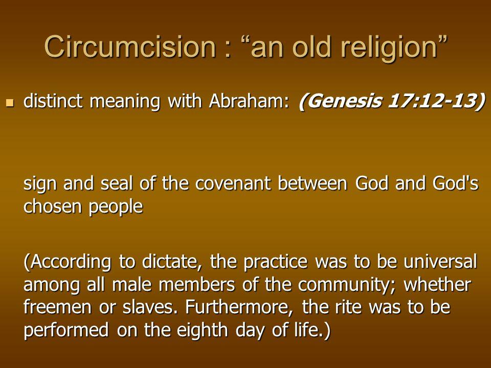 Circumcision : Beyond religion 1870: Routine circumcision as a preventative or cure for masturbation was proposed in Victorian times in America.