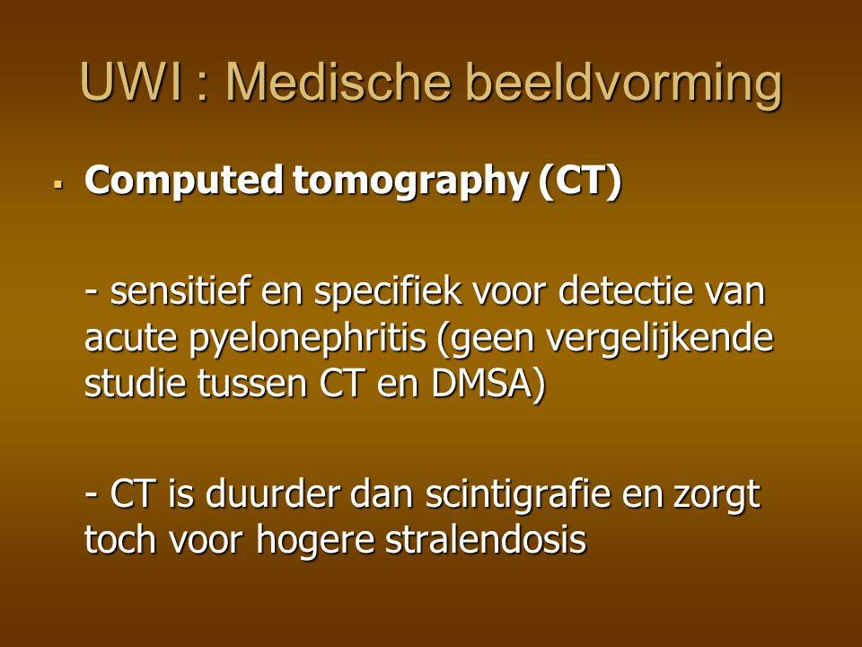 Mictie-Cystourethrografie Mictie-Cystourethrografie - vesicoureterale reflux is een risicofactor voor reflux- nephropathie en littekens: vroege D/ noodzakelijk .