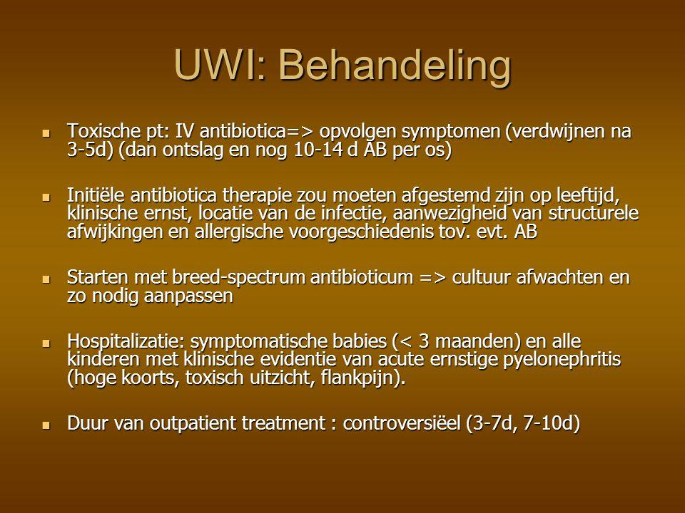 Algoritme voor R/ UWI bij kinderen