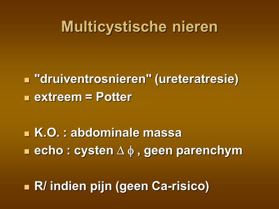 Polycystische nieren autosomaal recessief autosomaal recessief zeldzaam zeldzaam K.O.