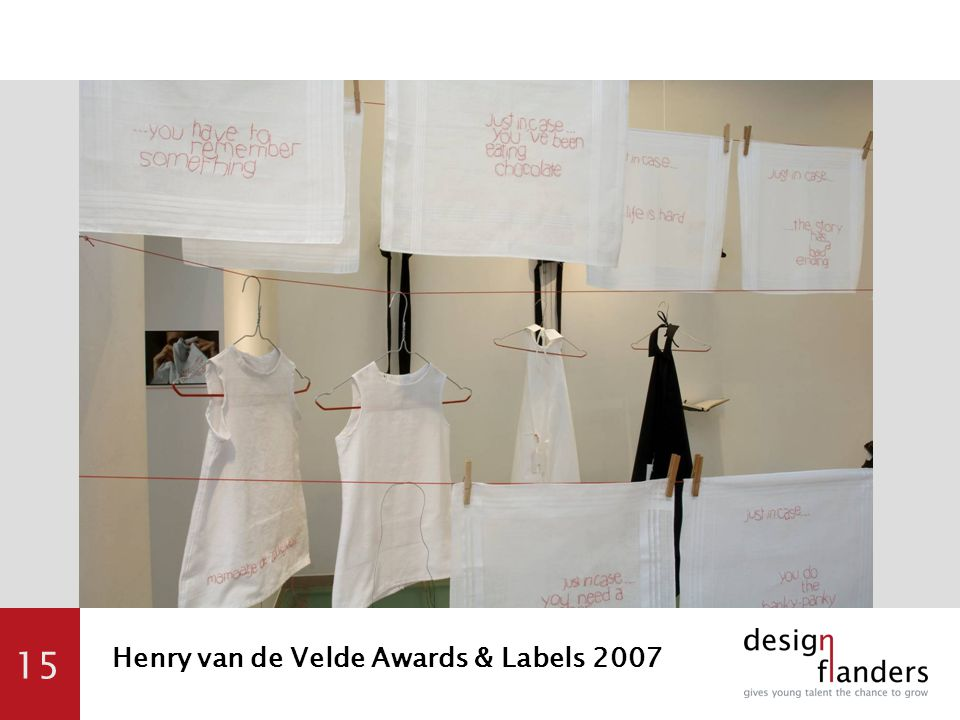 15 Henry van de Velde Awards & Labels 2007