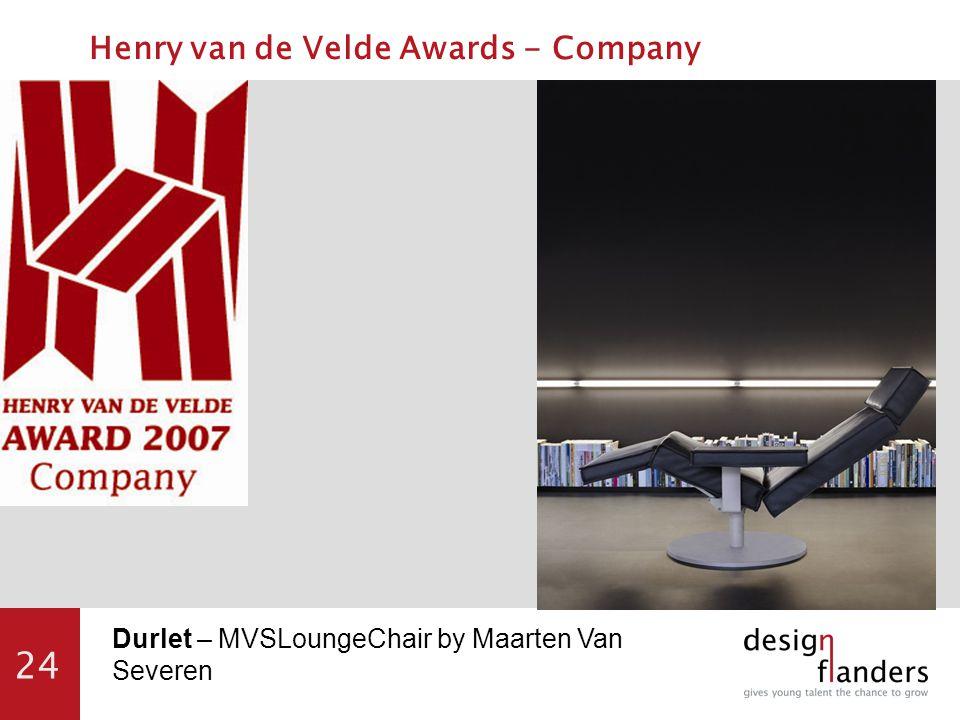24 Durlet – MVSLoungeChair by Maarten Van Severen Henry van de Velde Awards - Company