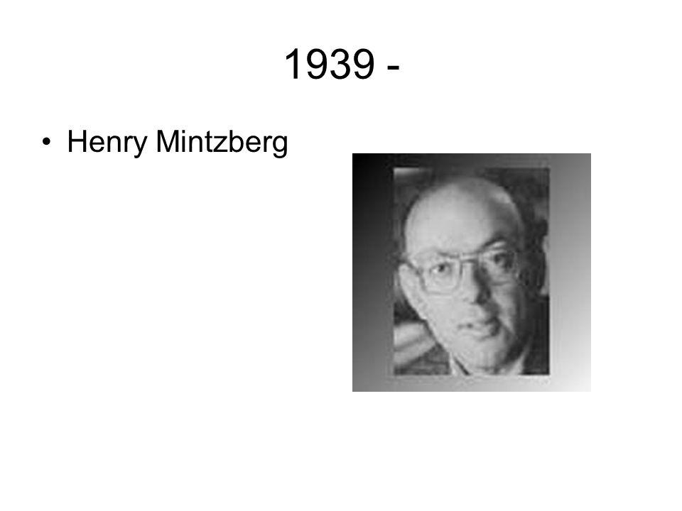 1939 - Henry Mintzberg