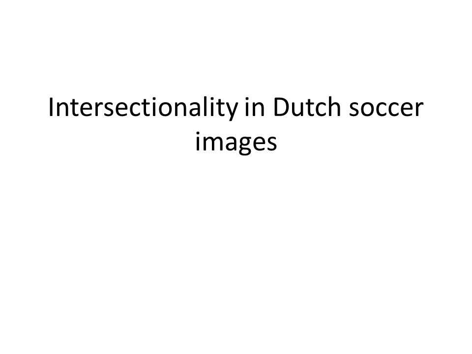 Intersectionality in Dutch soccer images
