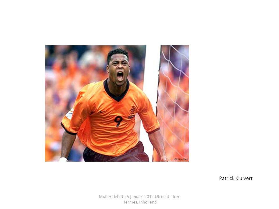 Mulier debat 25 januari 2012 Utrecht - Joke Hermes, Inholland Patrick Kluivert