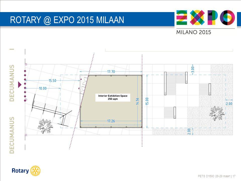 PETS D1590 28-29 maart | 17 ROTARY @ EXPO 2015 MILAAN
