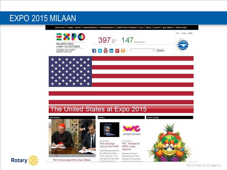 PETS D1590 28-29 maart | 2 EXPO 2015 MILAAN