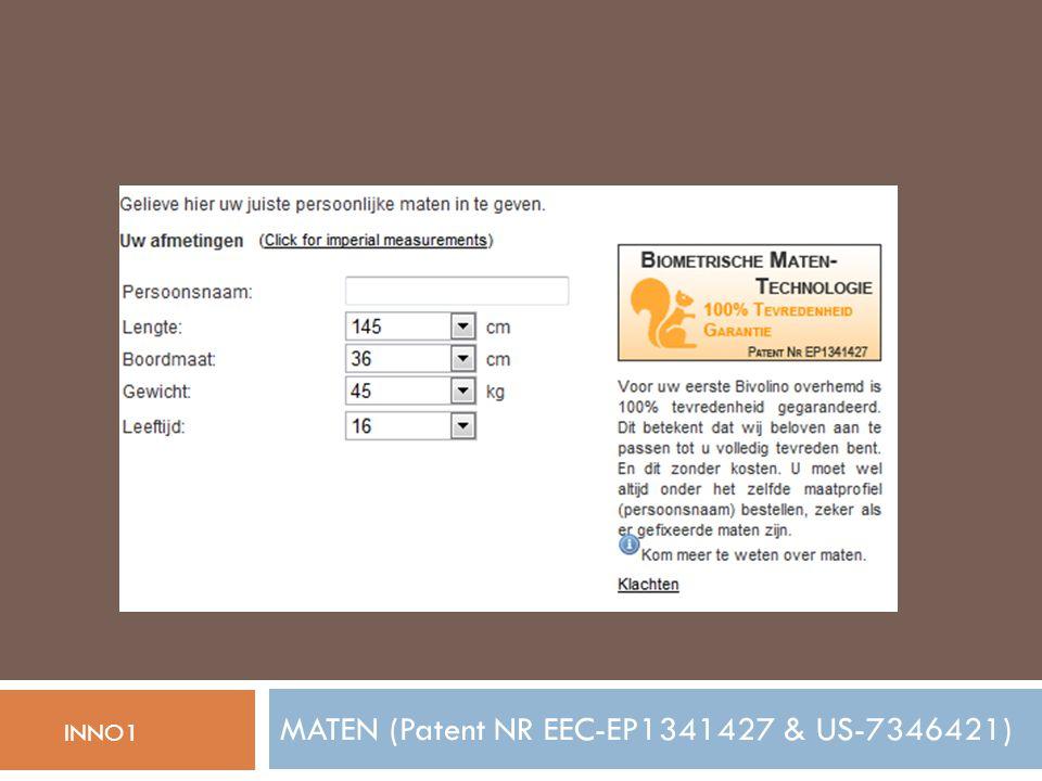 MATEN (Patent NR EEC-EP1341427 & US-7346421) INNO1