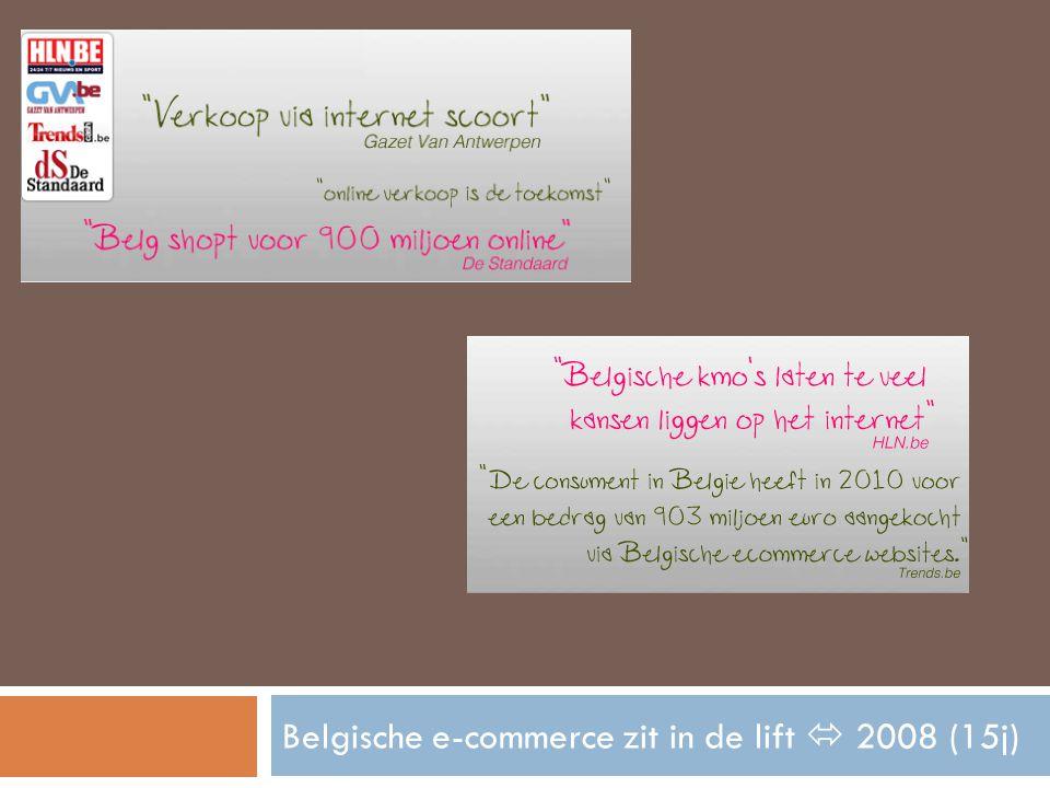 Belgische e-commerce zit in de lift  2008 (15j)