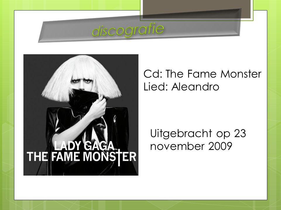 Cd: The Fame Monster Lied: Aleandro Uitgebracht op 23 november 2009